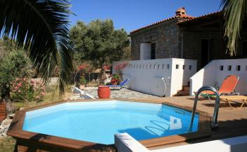 picture of sps264 Agia Paraskevi near Triopetra. Large stone villa with sea view, pool and garden