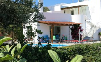 picture of vag186 Two bedroom furnished villa with pool and sea view 2.5km from beach