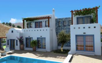 picture of vagi196 Agios Giorgos area 3 bedrooms -4 bathrooms - villa with pool and sea views